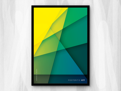 Posteritis 077 art abstract daily affinity designer series colorful vibrant gradient shapes repetition posteritis poster