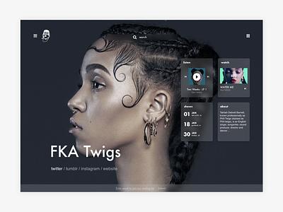 Young Turks - Selected Artist bio artist music explore ux-ui navigation exploration