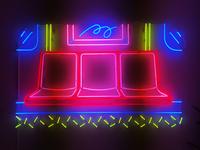 Subway Seats Neon
