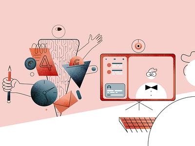 Virtual assistant robot character illustration design dribbble artoftheday inspiration digital art moho vector