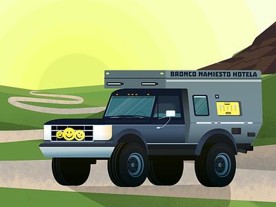 Bronco inspiration artoftheday illustration vector moho journey jeep nomad life car travel