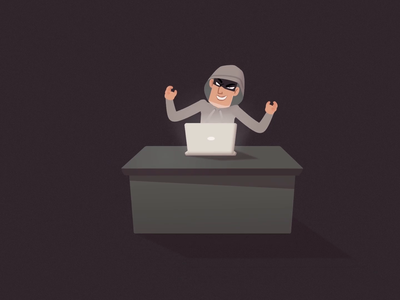 HA-HA-HA hidden crime hacker money laughter robber thief man motion design inspiration after affects character dribbble artoftheday character animation digital art animation vector moho