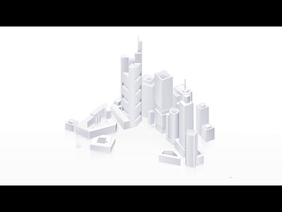 Frankfurt am Main artoftheday dribbble vector inspiration motion design moho 3d 2d simple buildup animation isometric city frankfurt frankfurt am main
