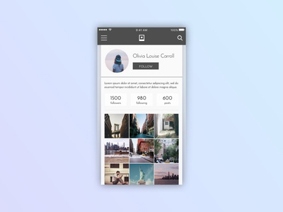Daily UI Challenge 006: User Profile user profile daily ui daily ui challenge 006 daily ui challenge design mobile ui