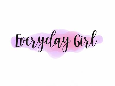 """Everyday Girl"" Watercolor Logo hand drawn watercolor logo pink purple logo watercolor"