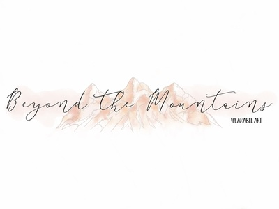 """""""Beyond The Mountains"""" Watercolor Logo hand drawn watercolor logo earth mountains logo watercolor"""