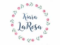 Kiara LaRosa Watercolor Logo
