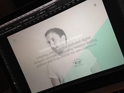 Portfolio v993.4 portfolio teaser pastel minimal typography mint