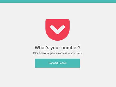 Pocket Count pocket design web app webapp layout onepage