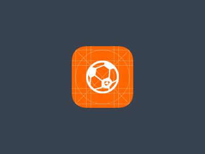 Soccer Prototype Icon sport white orange grid app mobile ios icon