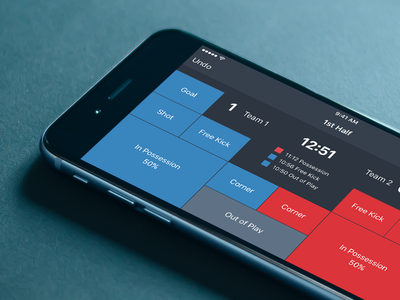 Live Soccer/Football Tagging mobile ios iphone6 ui sport interface iphone