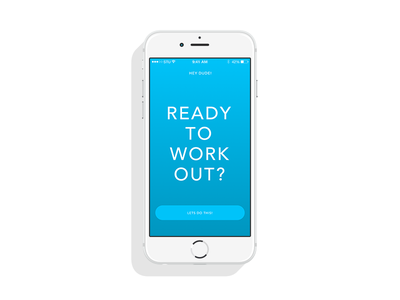 HIIT Timer type neon mobile minimal bright blue app