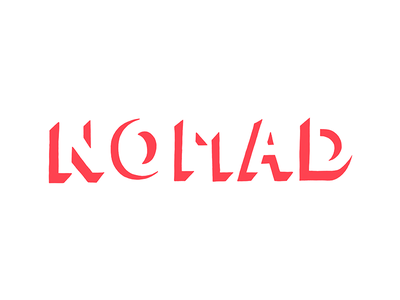NOMAD type drawing typography procreate ipad lettering