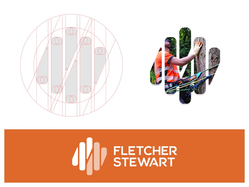 Fletcher Stewart Construction performance trust safety arborist outdoors knot identity logo mark brand