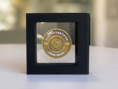 Elastic Certification Program Memento certificate badge coin