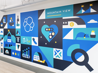 Office Mural - Mountain View