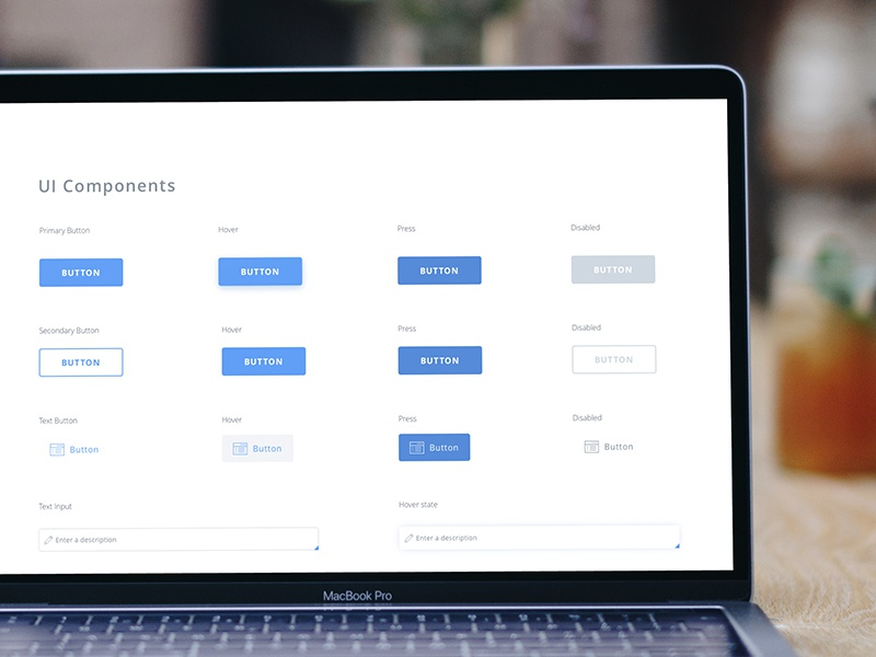 WIP: Building the system buttons blue design process uiux styleguide