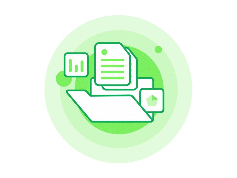 Assets minimal gradient green development experiment strategy tech colors illustration