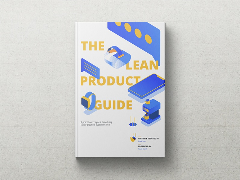 Lean Product Guide Cover Design concept product illustration cover design book