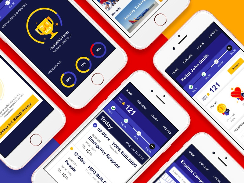 Airline Training Hub Concept concept app airlines design uiux