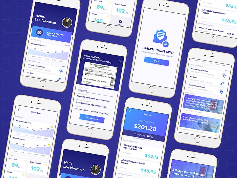 Pharmacy Co-pay Concept copay health concept app pharmacy design uiux