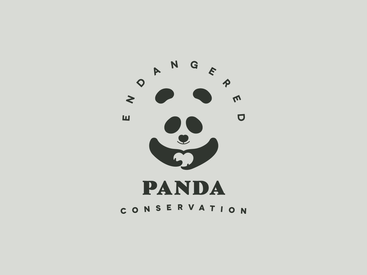 endangered panda conservation logo by tania orozco dribbble