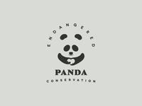 Endangered Panda Conservation Logo.