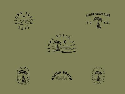 Aloha Beach Club doodles