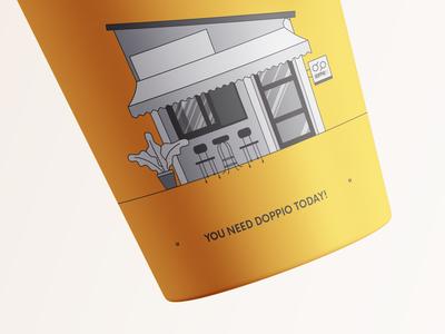 doppio kaffè / cup illustration