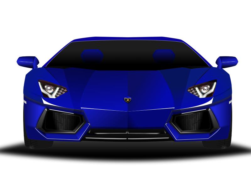 Lamborghini In Blue Using Sketch3 By Hana Song Dribbble Dribbble