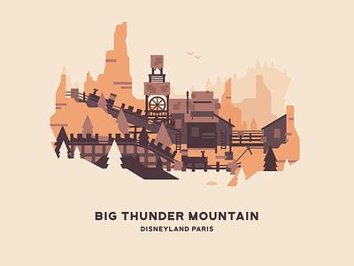 Big Thunder Mountain disney roller coaster theme park btm disneyland paris disneyland