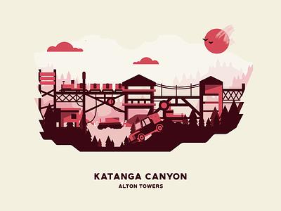 Katanga Canyon attraction landscape flat ride theme park alton towers katanga canyon