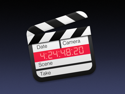 Clapperboard Icon clapperboard icon movie clapper yosemite os x app