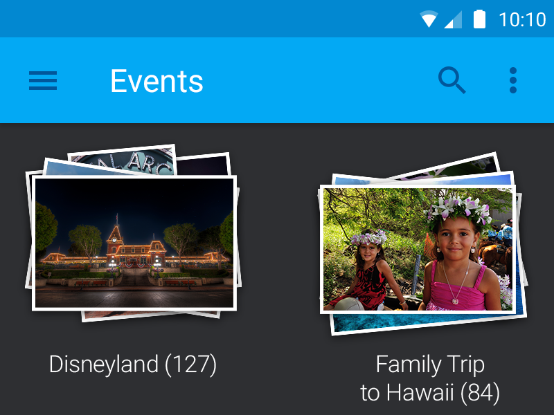 Events photos events disneyland hawaii app android android l material design