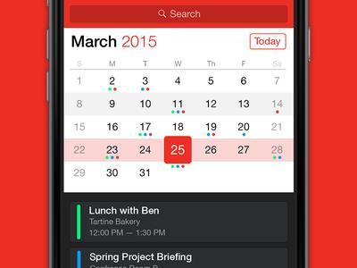 Calendar app calendar ios app watch ui apple