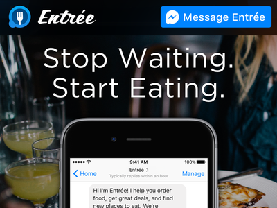 Entrée Website messenger web design website entree