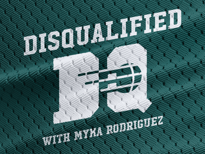 Disqualified uniform jersey basketball podcast logo sports disqualified podcast album  artwork