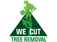 We Cut Tree Removal Logo tree service logo blake andujar logo design