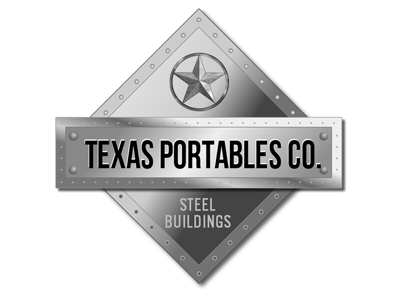 Texas Portables Logo steel buildings company startup texas portables