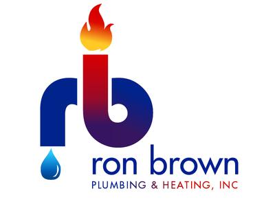 ron brown plumbing heating logo by blake andujar dribbble rh dribbble com plumbing logo design ideas plumbing logo ideas