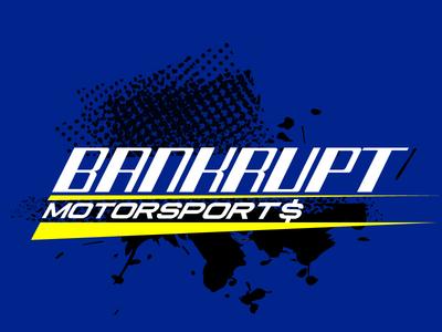 Bankrupt Motorsports Logo for a Rally Racing Team