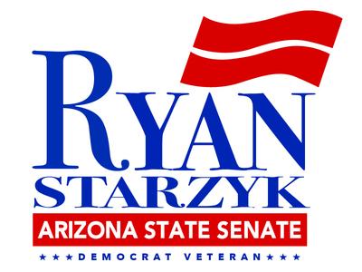 Ryan Starzyk Democrat for Arizona State Senate Political Logo