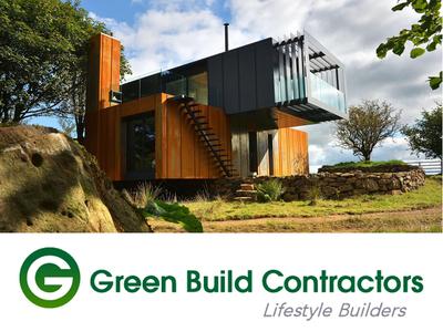 Green Build Contractors Logo Design / Branding green construction green home building green logo design blake andujar logo design green build contractors