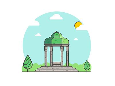 Tomb of Hafez design shiraz persian pars iran adobe illustrator icon hafiz line hafez