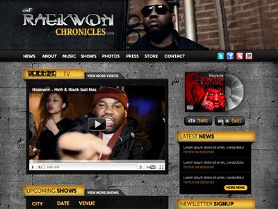 Raekwon Website Design webdesign