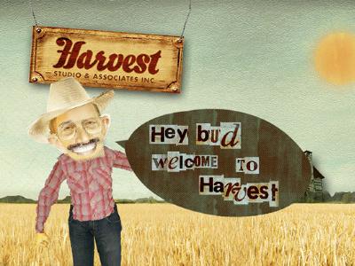 Harvest Studio typography characterdesign illustration