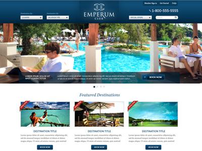 Emperum Club Website design web