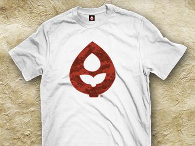 CROPS® OG Red Camo Logo apparel t-shirt