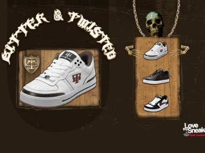 Footlocker: Bitter & Twisted web design microsite