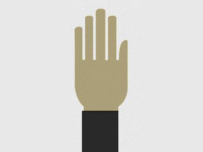 Hand Icon illustration resume